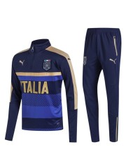 Italy 1/4 Zip Training Top Navy 2017/2018