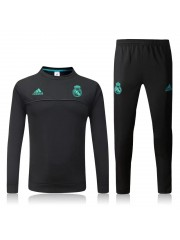 Real Madrid Tracksuit Black - 2017/2018 - Round