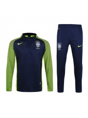 Brazil Authentic Drill Tracksuits Navy