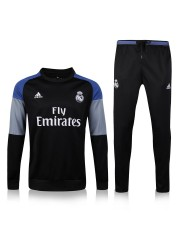 Real Madrid Black/Black Tracksuit 2016/2017