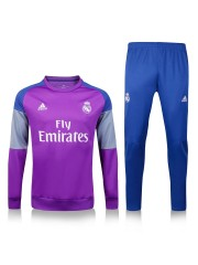 Real Madrid Purple/Blue Tracksuit 2016/2017