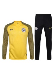 Manchester City Yellow&Green Tracksuits 2016/2017
